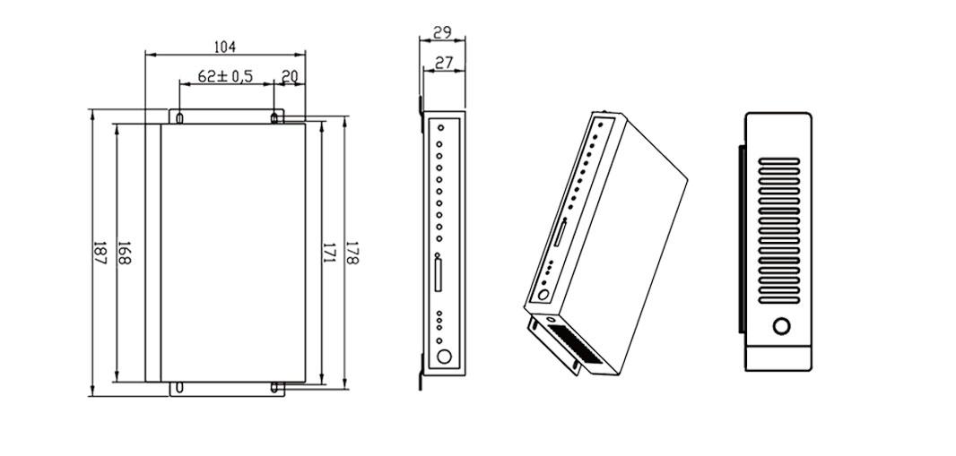 BMR420 Dual Sim Rouer Structural dimension
