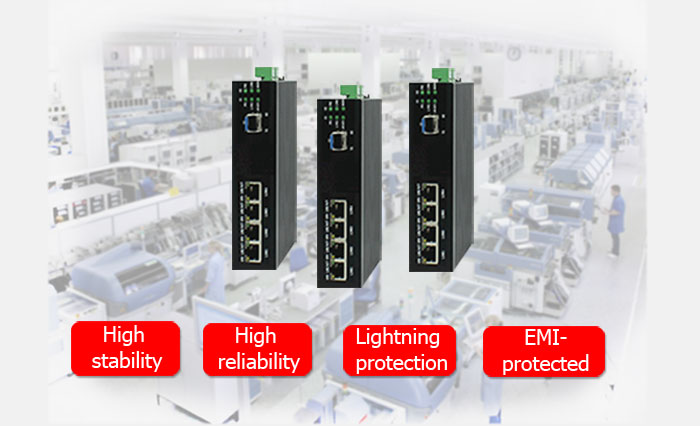 BM-IES04G Industrial Unmanaged Gigabit Ethernet Switch
