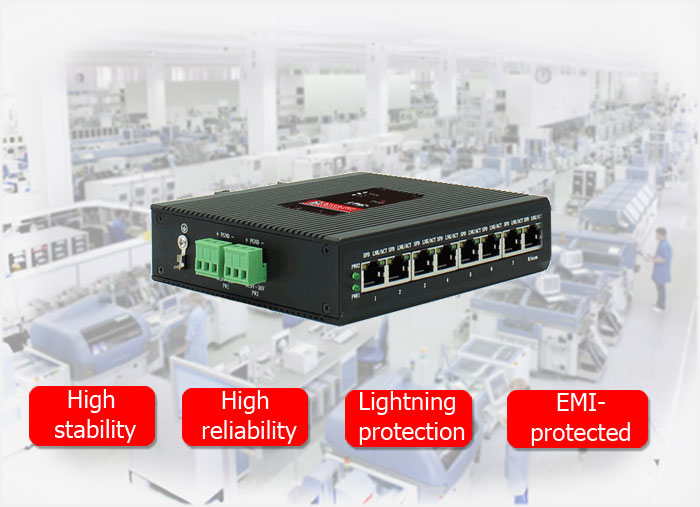 BM-IES08 Industrial Ethernet Switch