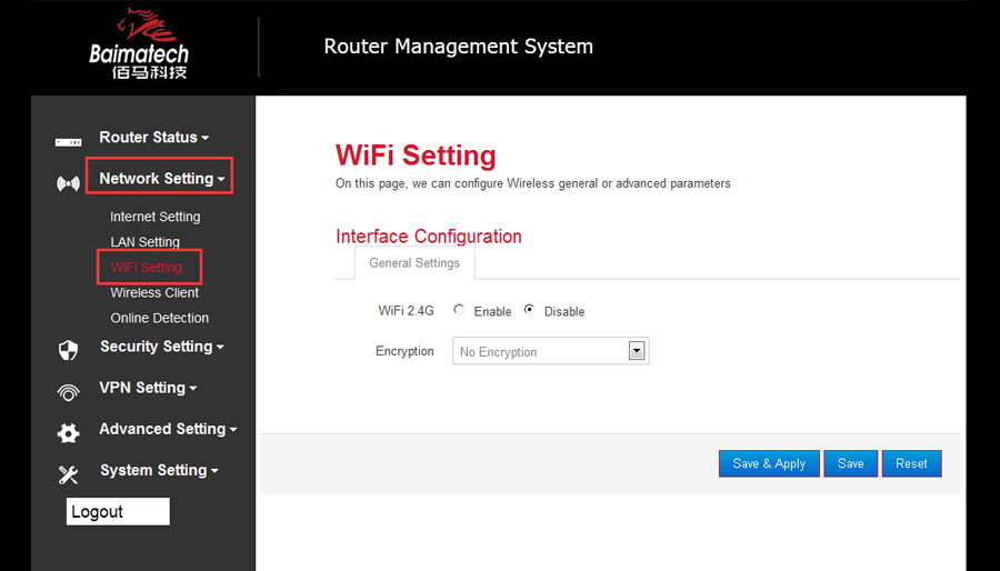 How to set WIFI on BMR400 Cellular router?
