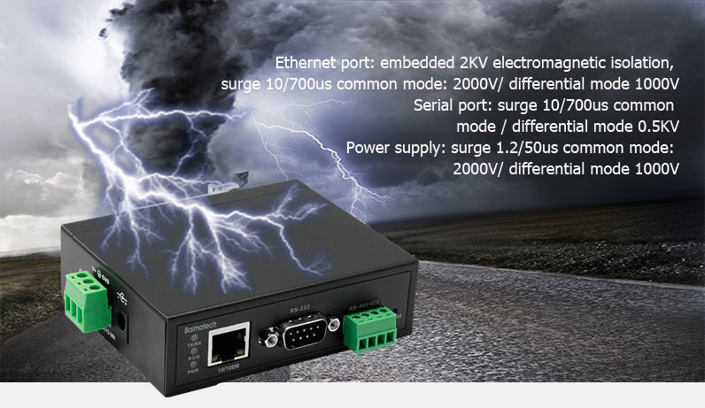 BMS160 single serial to Ethernet converter Industrial design, stable operation