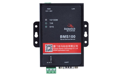 BMS100 Serial to Ethernet converter, with a RS232 and a RS485 serial port to realize two-way transparent transmission of RS232/RS485 and Ethernet