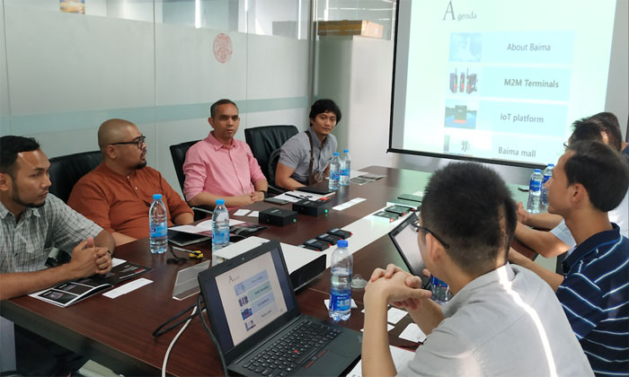 Malaysia's well-known IoT App Company visited Baima