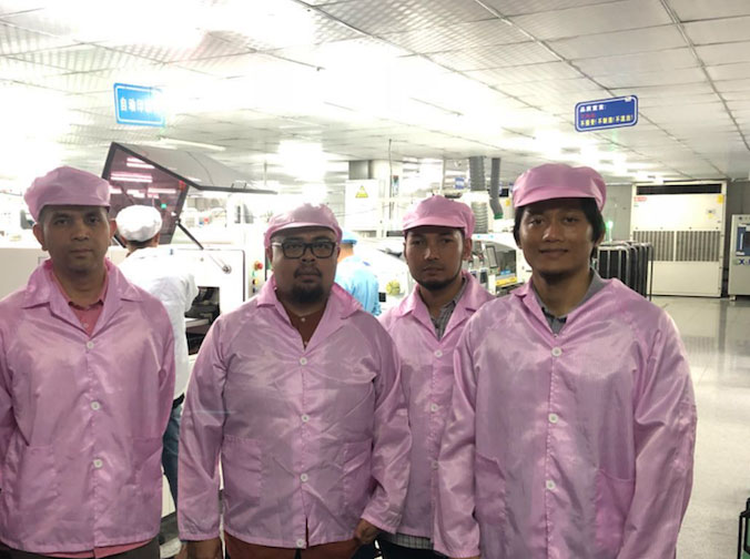 Malaysia Customers Visited Production visit