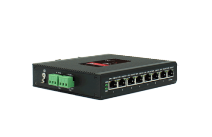 BM-IES08 industrial Ethernet switch, with 8 x 10/100M industrial Ethernet ports. Stable, reliable and safe for long-term use in a variety of harsh environment (such as high temperature, low temperature, dust, electromagnetic interference, etc.)